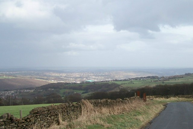 Oughtibridge with distant view of Sheffield