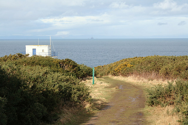 Gordonstoun Tower against Moray Firth backdrop