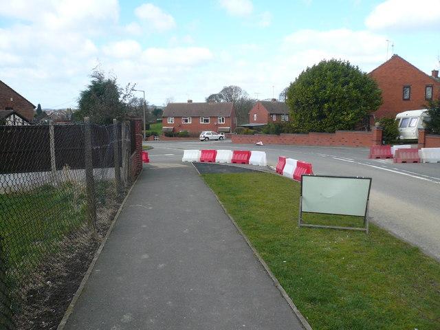 Danesmoor - Jackson Road viewed from Pilsley Road