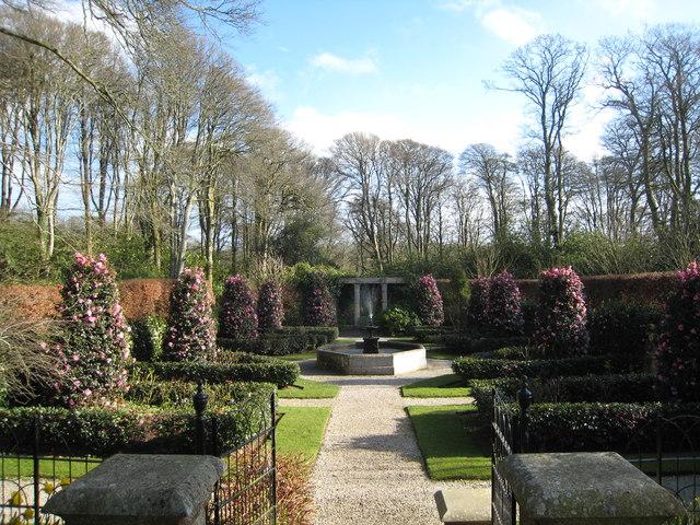 Formal gardens at Trevarno