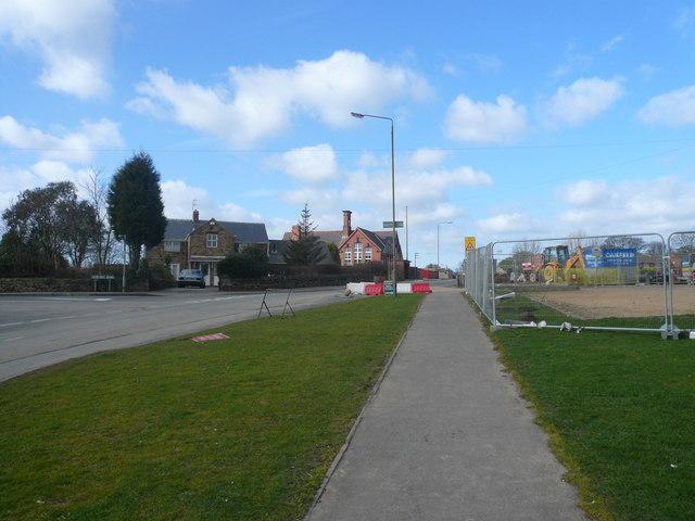 Danesmoor - Cemetery Road junction with Pilsley Road