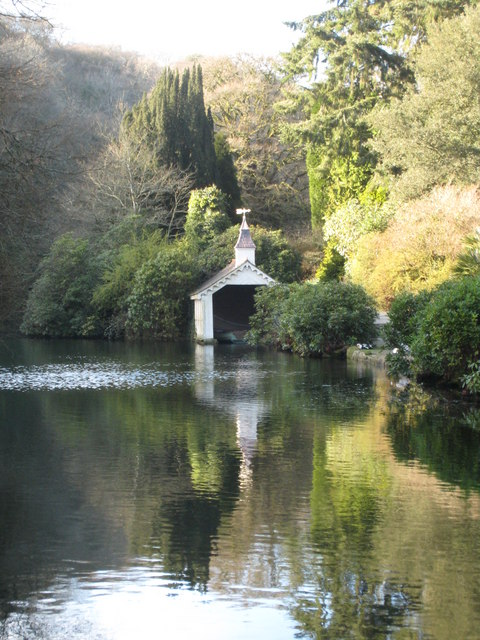 Victorian boathouse at Trevarno