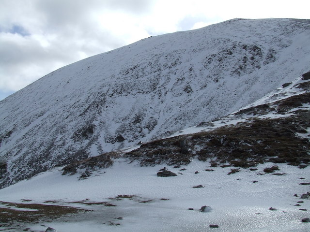 Above the northeastern corrie of Ben Vorlich
