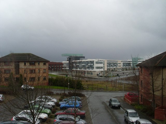 View to new Clydebank College building