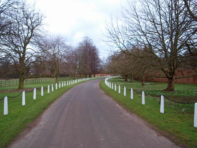 White fencing near Wiseton Hall