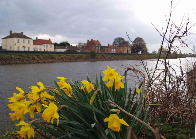 East Stockwith from across the River Trent at West Stockwith