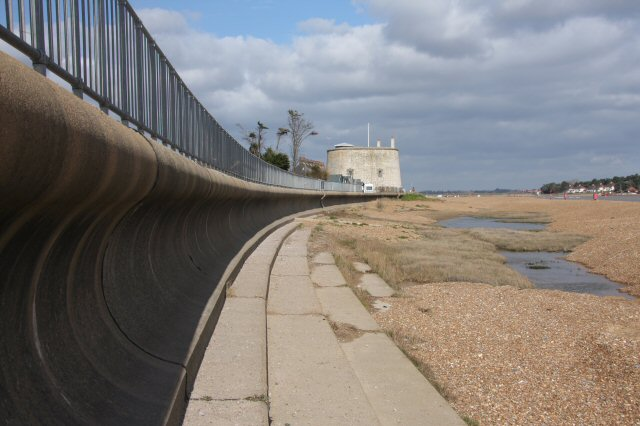 Sea defences at Felixstowe Ferry