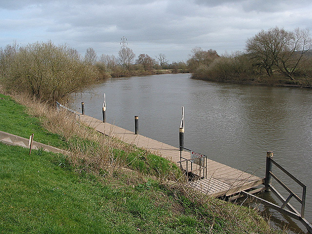 Moorings at Ashleworth Quay on the River Severn