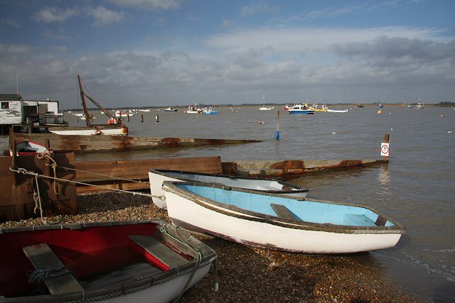 Dinghies on the Deben