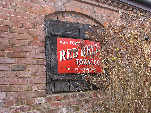 Red Bell Tobacco, enamel sign