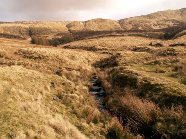 Broad Clough looking to The Three Knolls