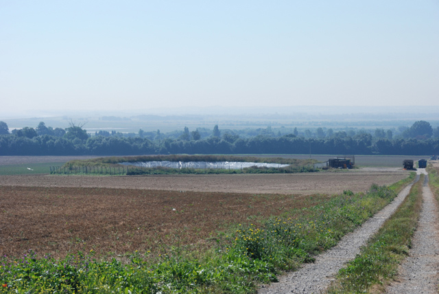 A newly ploughed field