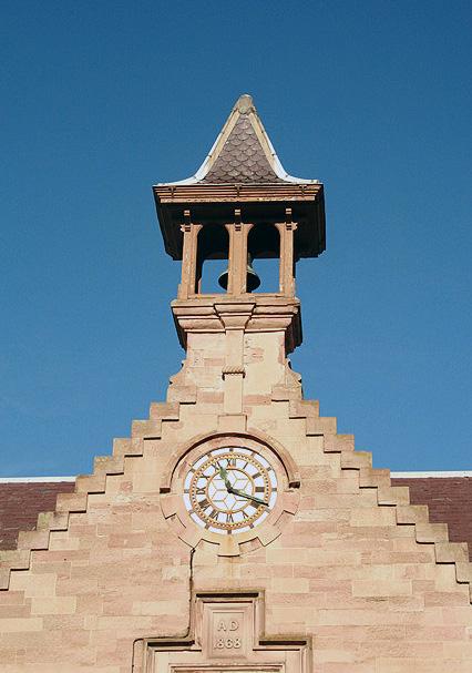 The corn exchange clock and belfry
