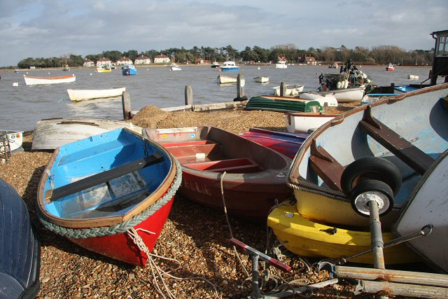 A jumble of dinghies
