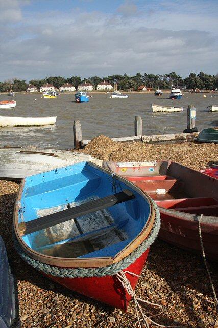 Dinghies at Felixstowe Ferry