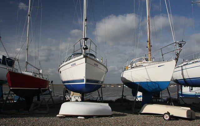 Winter yacht storage