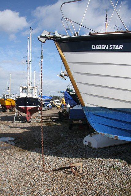 Anchored ashore