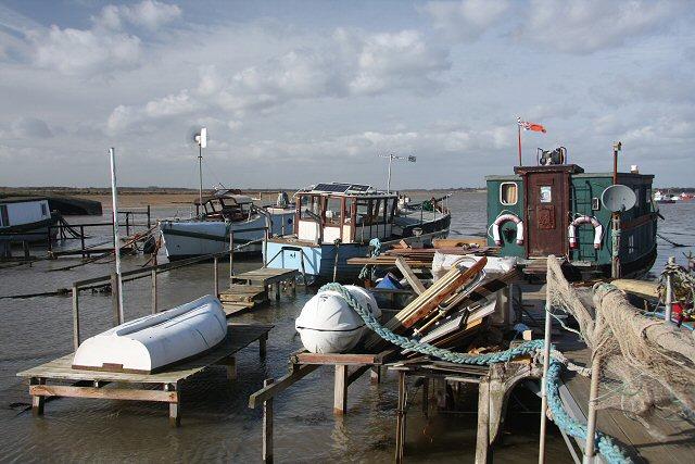 Houseboats at Felixstowe Ferry