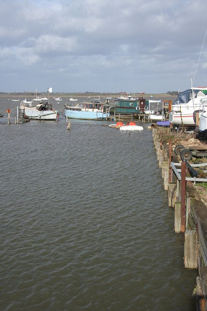 Old quay at Felixstowe Ferry