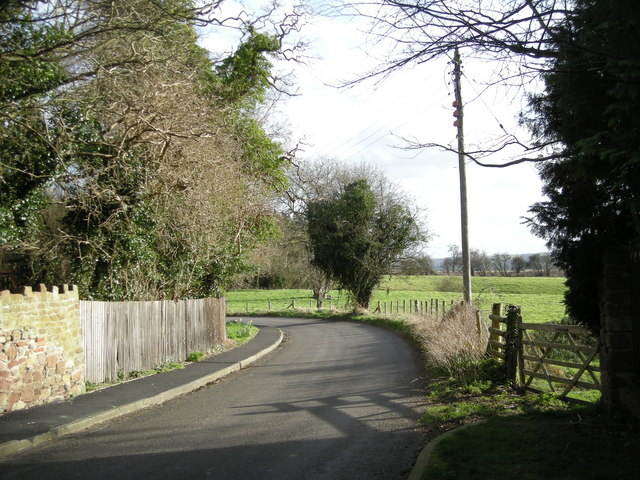 The lane by the church at Wroxeter