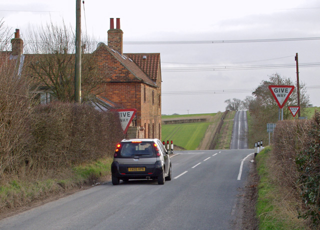 Riplingham Crossroads from the north