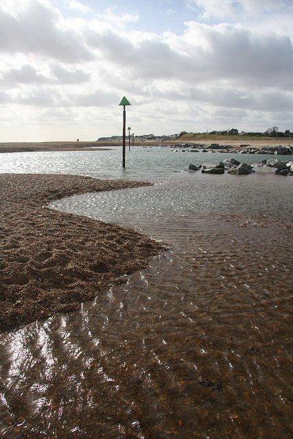 Percolation lagoon near Felixstowe Ferry