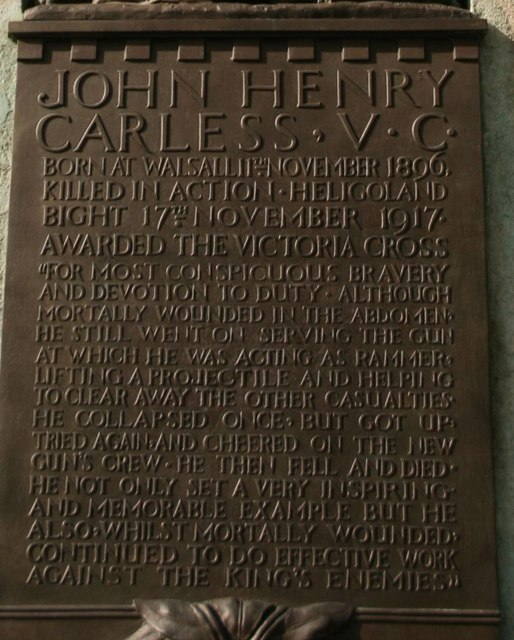John Henry Carless plaque