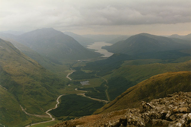 View southwest from Stob Dubh