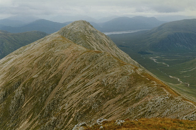 View northeast from Stob Dubh