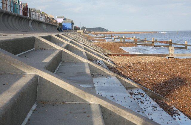 Sea defences at Brackenbury Dip