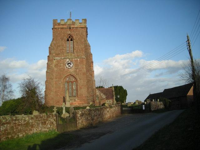 All Saints Church: Berrington.