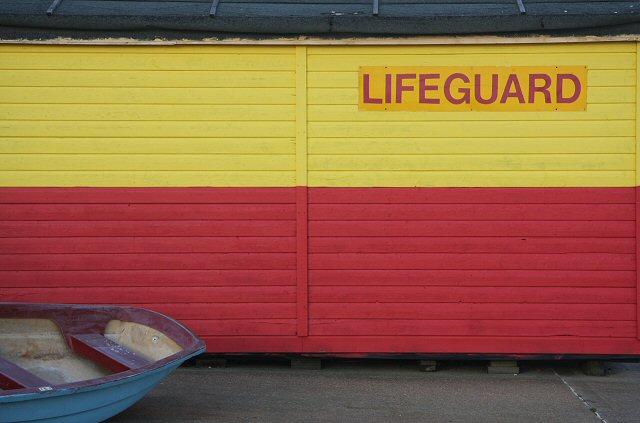 Lifeguard hut at Old Felixstowe