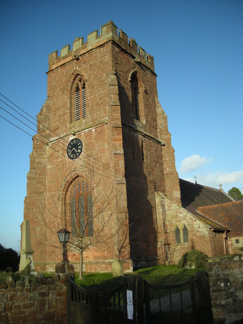 The tower of All Saints Church.