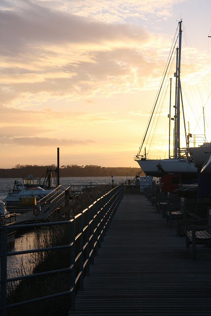 Sunset at Suffolk Yacht Harbour