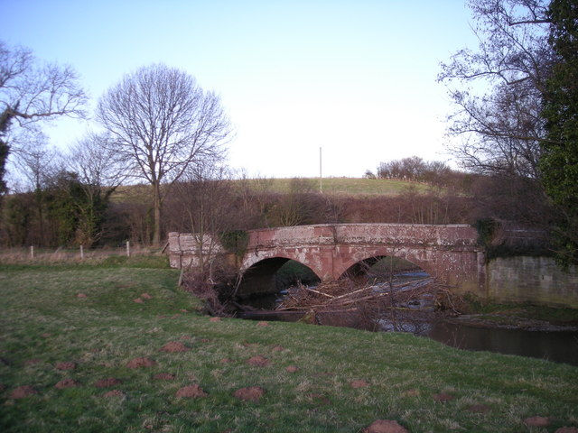 Cound Stank Bridge & Row Brook.