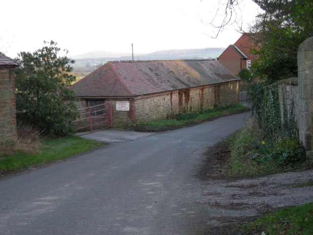 Farm buildings at Harnage.
