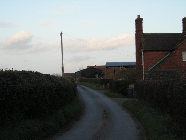 Lane past Cressage House.