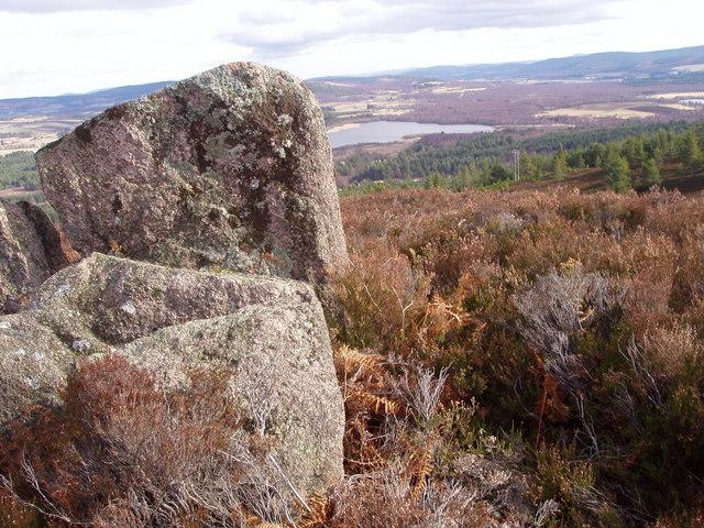 Large rock on Moorland slope