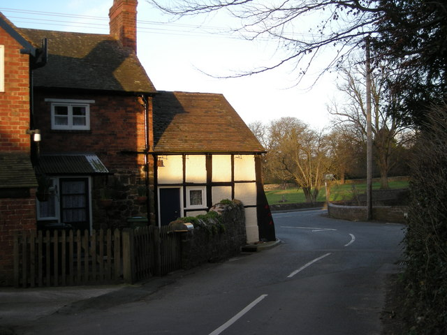 Cottage at the junction with the A458.