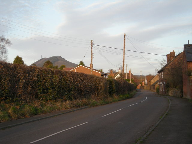 Eaton Constantine with The Wrekin nearby.