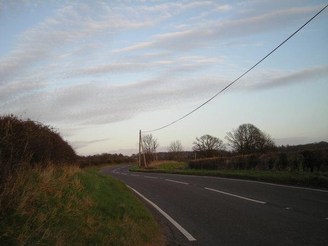 Dusk on the B4380.