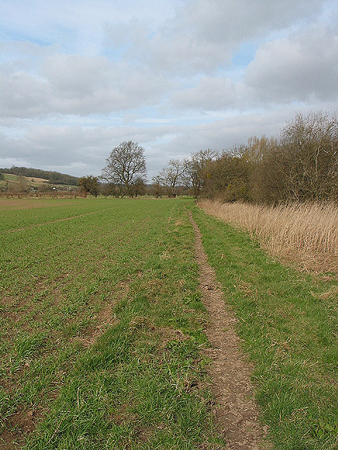 Bridleway on the west bank of the Severn