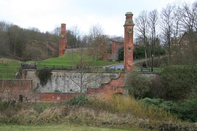 Remains of Park Bridge Iron Works.