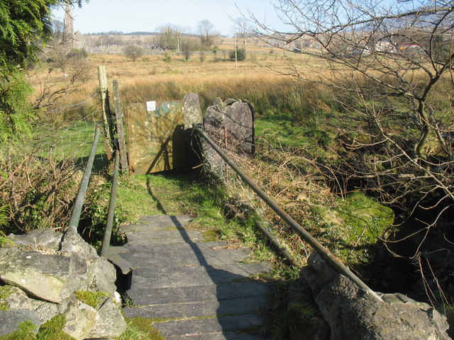 Public footpath footbridge