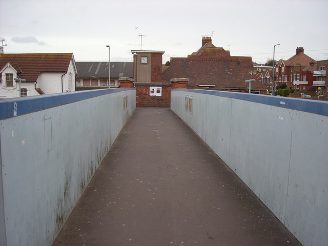 Footbridge over the railway station, Bexhill-on-Sea