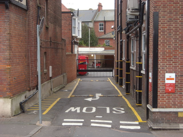Entrance to Post Office Yard, Bexhill-on-Sea