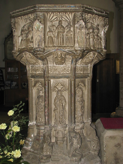 The church of St Nicholas - baptismal font