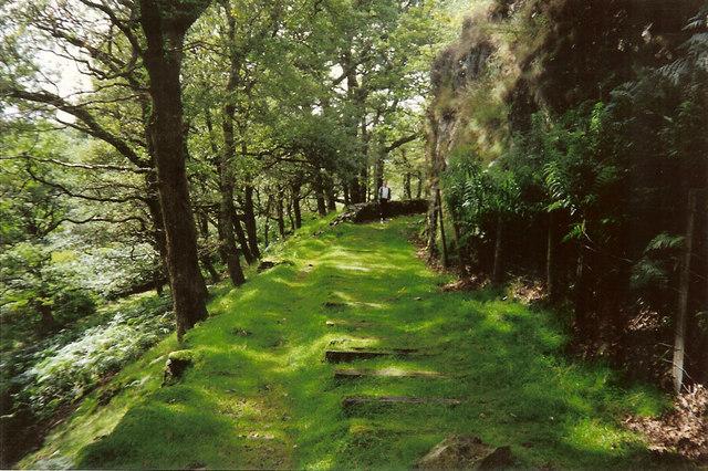 Old Ffestiniog railway trackbed