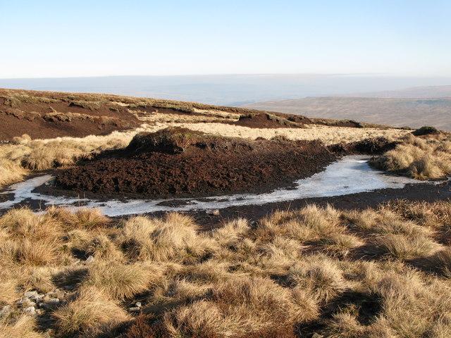 Frozen peat haggs
