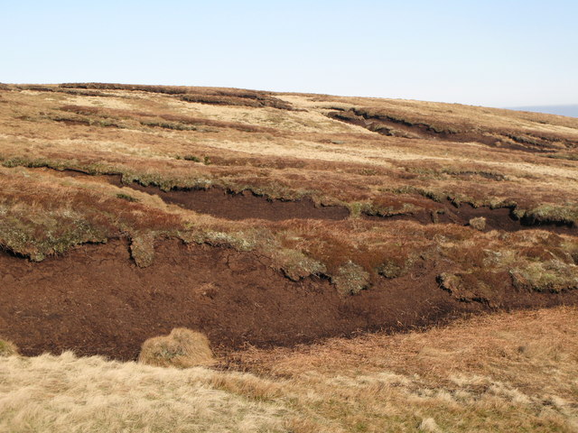 Peat haggs east of Chapelfell Top
